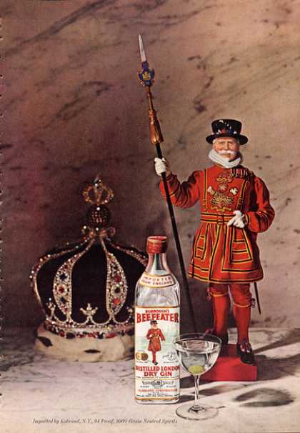 Burroughs Beefeater's Dry Gin Crown Guard (1962)