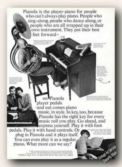 Pianola Player Piano Photos (1966)