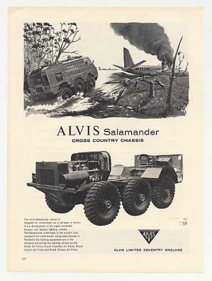 Alvis Salamander Fire Fighting Vehicle Photo (1960)
