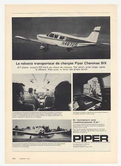 Piper Cherokee Six Airplane Photo French (1972)