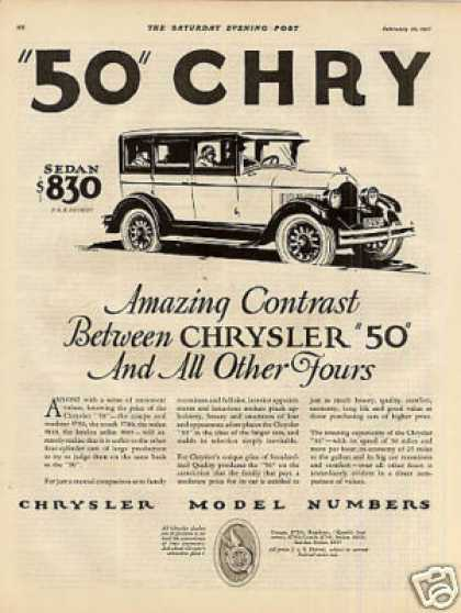 Chrysler Cars Ad 2 Page (1927)