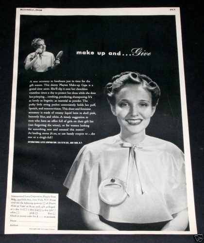 Playtex Make-up Cape, Dainty (1938)