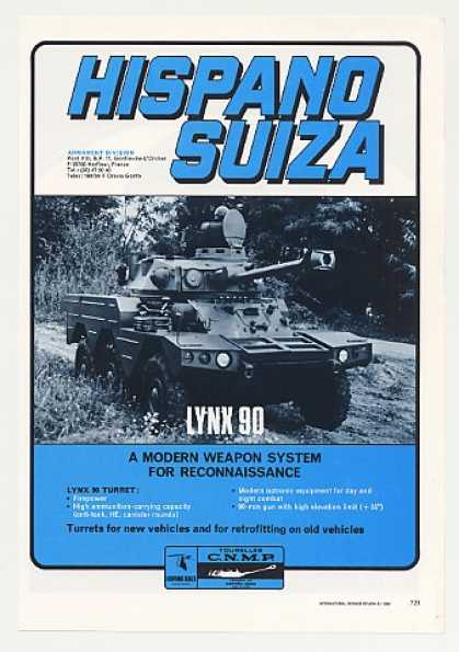 Hispano Suiza Lynx 90 Turret Armored Vehicle (1980)
