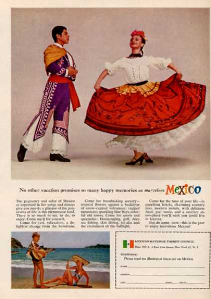 Mexico Travel Traditional Dancers (1964)