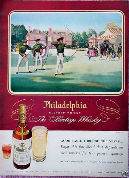 Philadelphia Whisky Archery Mt Pleasant Tents (1948)