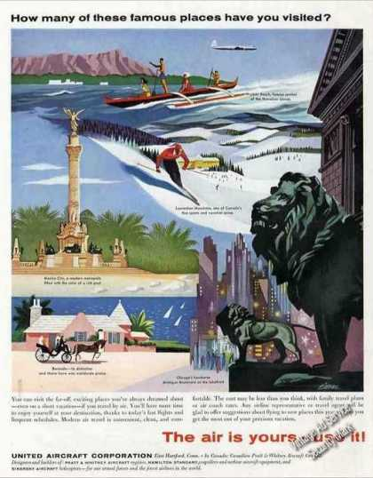 """The Air Is Yours – Use It!"" United Aircraft (1957)"