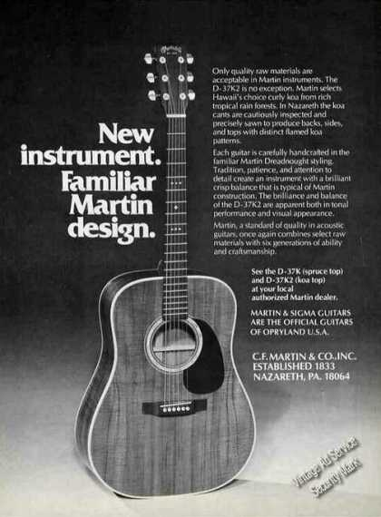 Martin C-37k2 Guitar Photo Nazareth Pa (1980)