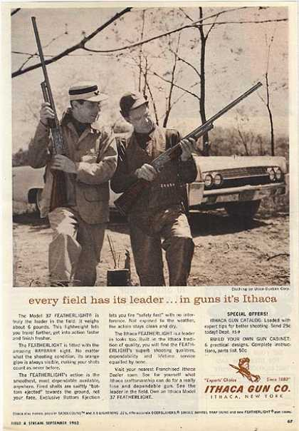 Ithaca's Model 37 Featherlight Shotguns (1962)