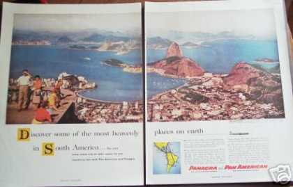 Pan Am Panagra Airways South America Photo (1956)