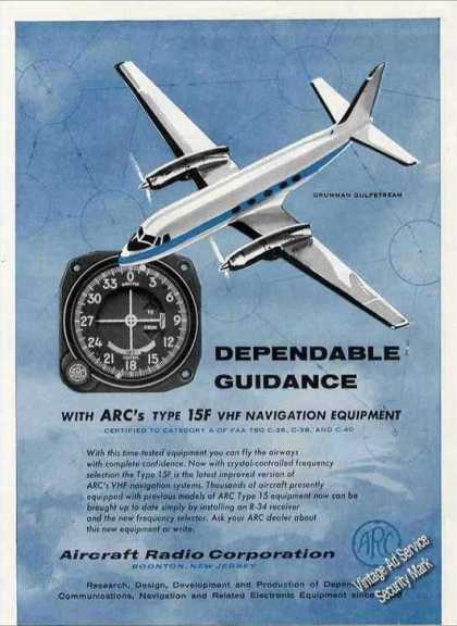Grumman Gulfstream Art Arc Navigation Equipment (1960)