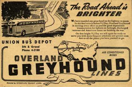 Interstate Transit Lines (Overland Greyhound) – The Road Ahead is Brighter (1945)