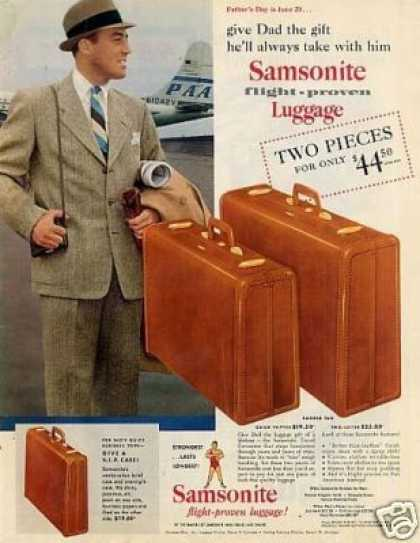 Samsonite Luggage (1954)