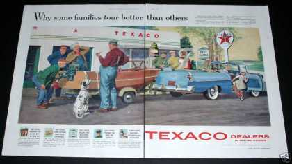 Old , Texaco Dealers, Gas Station (1957)