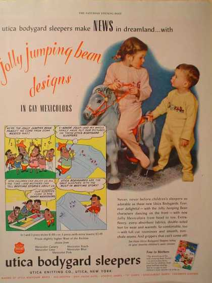 Utica Bodyguard sleepers Jolly Jumping Bean (1949)