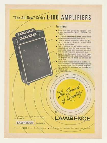 Lawrence Series L-100 Amplifier Amp (1968)