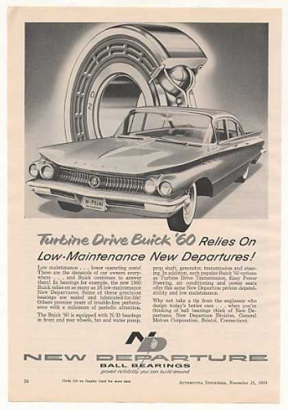New Departure Ball Bearings '60 Turbine Buick (1959)
