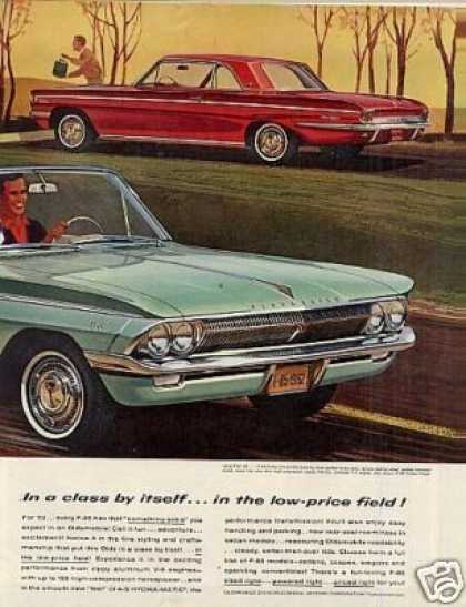 Oldsmobile Cars Ad 2 Page (1962)