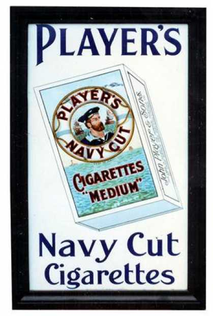 Player's Navy Cut Cigarettes Sign