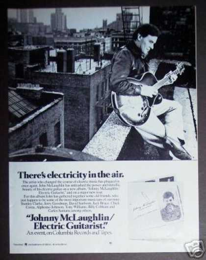 John Mclaughlin Electric Guitarist Record Promo (1978)