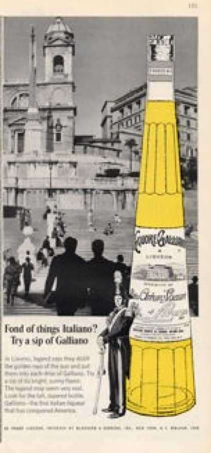 Liquore Galliano Italian Liqueur Bottle (1965)