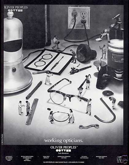 Oliver Peoples Working Opticians Glasses Photo (1990)