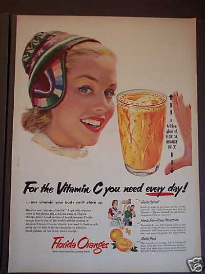 Florida Orange Juice Beverage (1953)