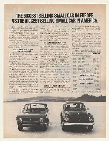 Fiat 128 vs VW Super Beetle Biggest Selling (1972)