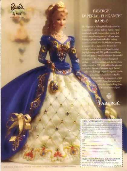 Barbie Doll – Faberge Imperial Elegance Barbie – Sold (1998)