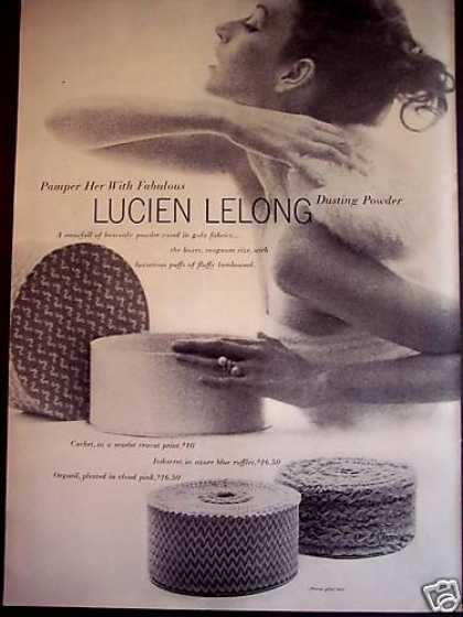 Lucien Lelong Dusting Powder Puff (1950)