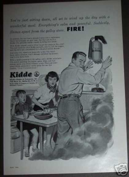 Kidde Co2 Fire Extinguisher In the Gally (1954)
