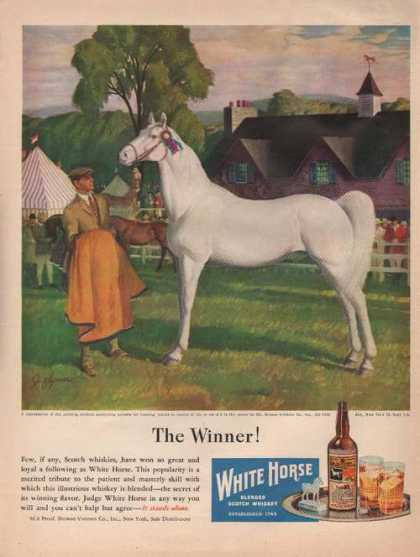 The Winner White Horse Whiskey (1946)