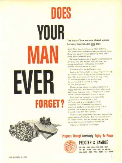 Procter & Gamble – Does Your Man Ever Forget? (1952)