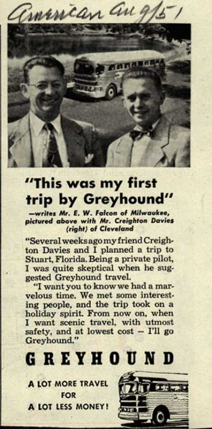 "Greyhound – ""This was my first trip by Greyhound"" (1951)"