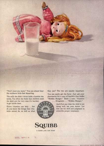 Olin Mathieson Chemical Corporation's E. R. Squibb & Sons – Squibb a name you can trust (1958)