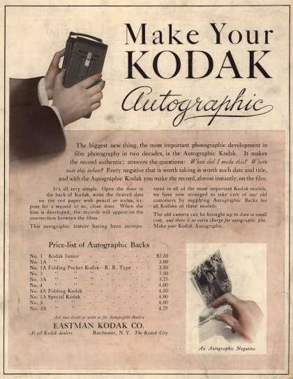 Kodak's Autographic cameras – Make Your Kodak Autographic (1914)