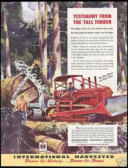 International Harvester Crawler Tractor Logging (1948)