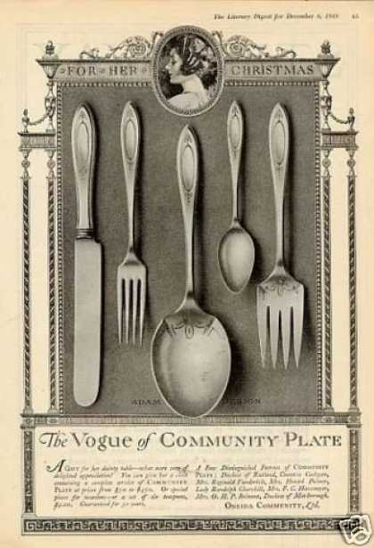 Community Silverplate Ad Adam Pattern (1919)
