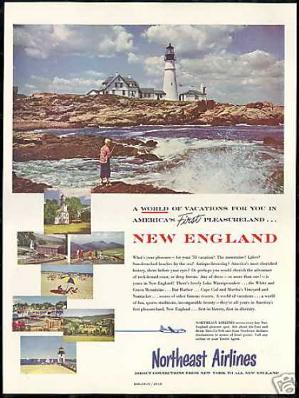 Northeast Airlines New England Lighthouse (1953)