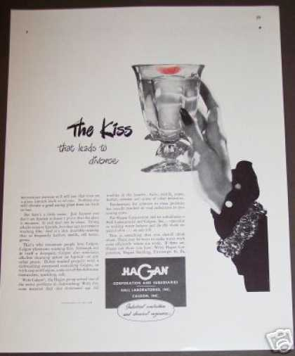Kiss Leads To Divorce Calgon Dishwashing (1946)