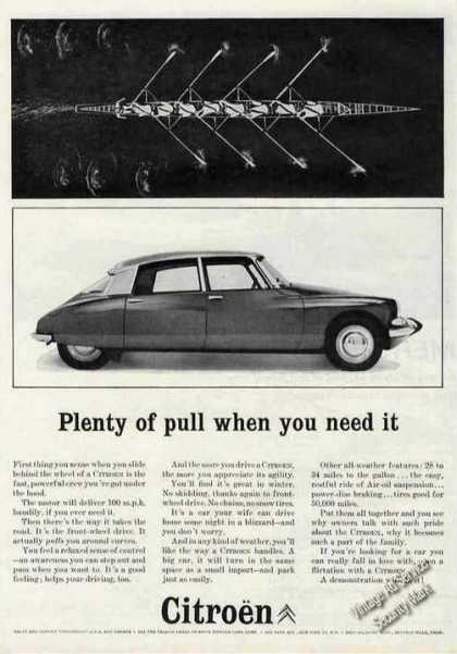 "Citroen ""Plenty of Pull When You Need It"" (1963)"