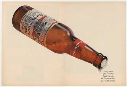 Bud Budweiser Beer Huge Bottle Photo Double-Pg (1965)