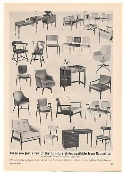 Baumritter Furniture Chairs Desks Motel Trade (1963)