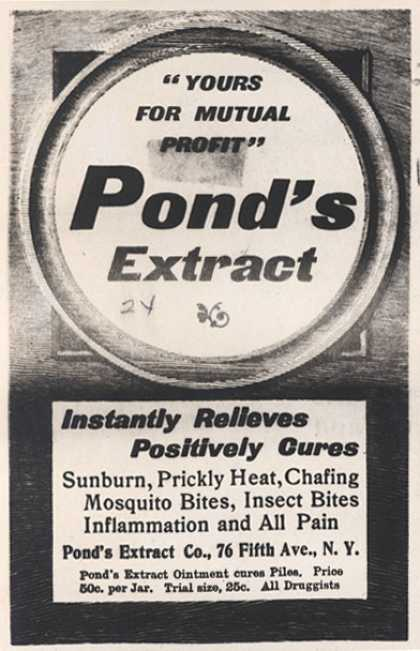 "Pond's Extract Co.'s Pond's Extract – ""Yours For Mutual Profit"" Pond's Extract (1899)"