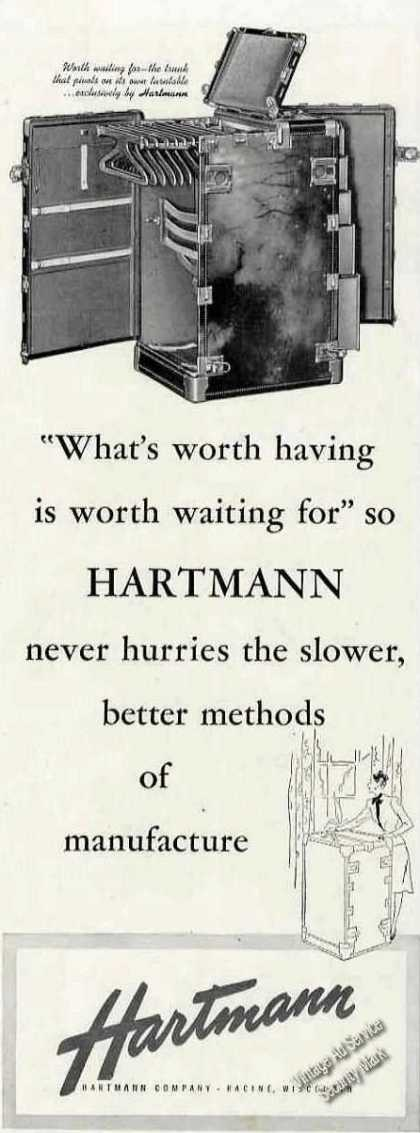 Hartmann Trunk Racine Wi Luggage (1946)