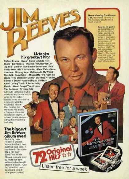 Jim Reeves Original Hits Albums (1978)
