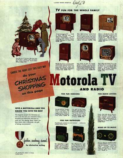 Motorola's Various – Do your Christmas Shopping on this page (1950)