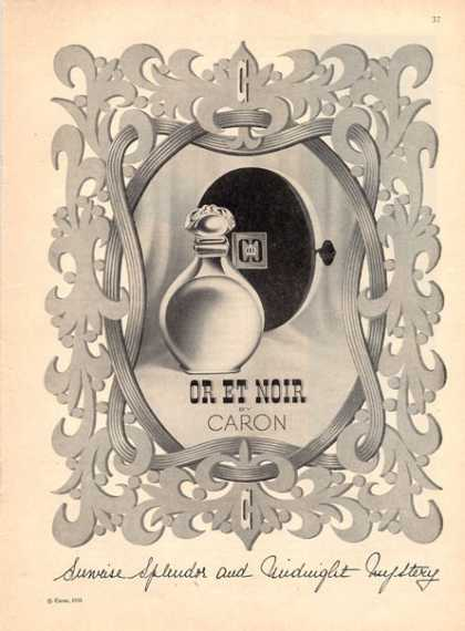 Caron or Et Noir Perfume Bottle (1951)