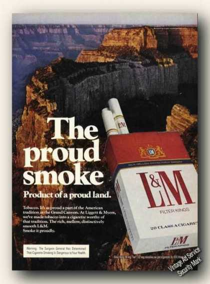 Grand Canyon Photo L&m Cigarettes (1975)