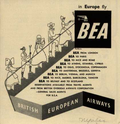 British European Airways – In Europe, Fly BEA (1950)
