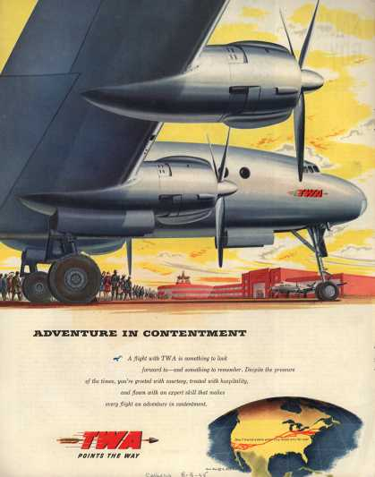 Transcontinental & Western Air – Adventure in Contentment (1945)
